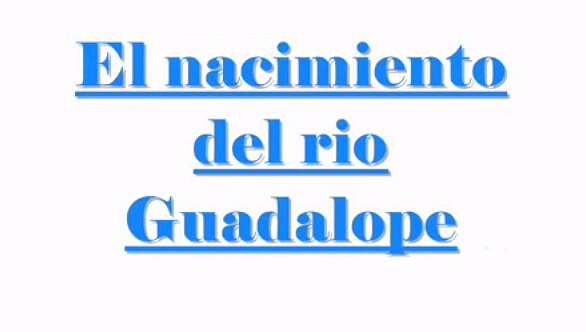 El nacimiento del rio Guadalope